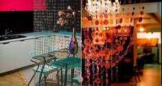Декоративные межкомнатные шторы из бусин