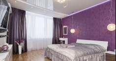 Дизайн фиолетовых штор