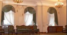 Шторы на арочные окна-фото