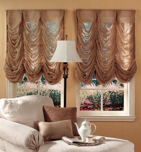 Фото штор в комнате