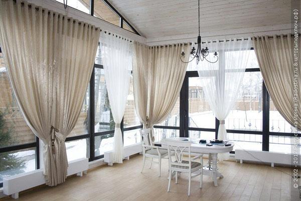 дизайн штор для веранды