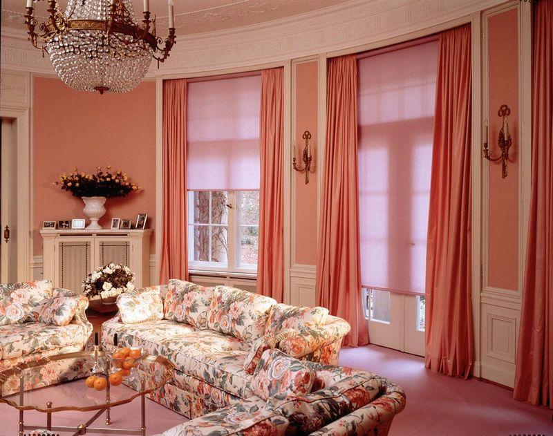 Малиновые шторы фото