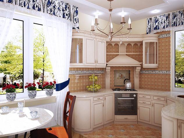 Ламбрекен на кухню своими руками