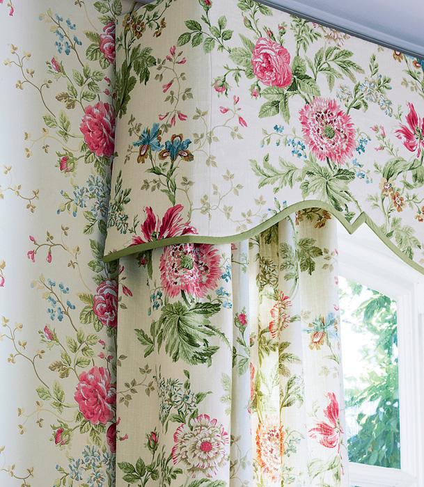 шторы для кухни с цветами