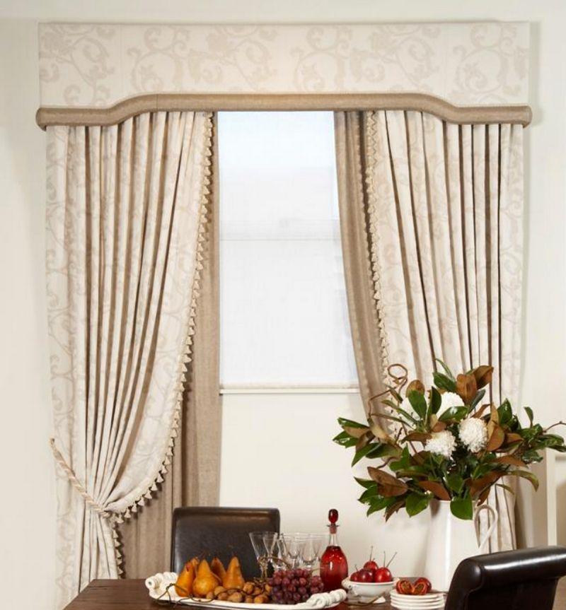 Элегантные шторы для кухни