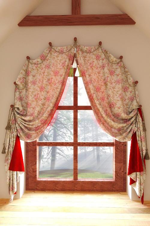 Примеры карнизов и держателей для штор в детскую комнату - рис.13
