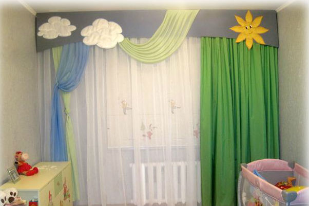 Пошить шторы в детскую