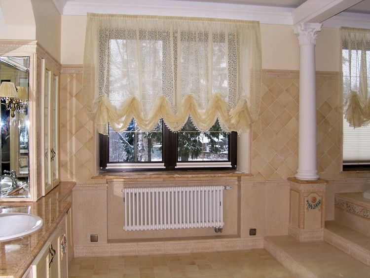 дизайн шторы на кухню