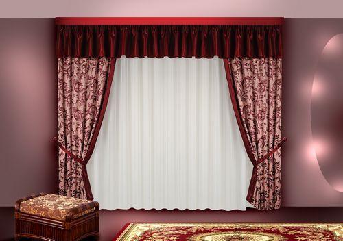 бордовые шторы фото