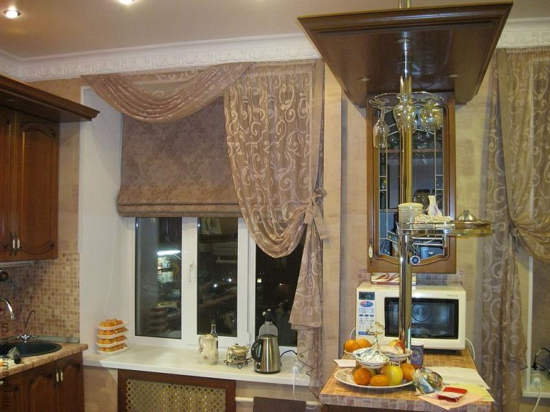 римские шторы в интерьере кухни гостиной спальни детской