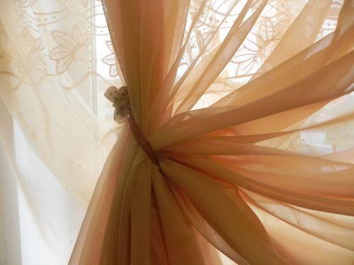 Фото штор из органзы своими руками 150