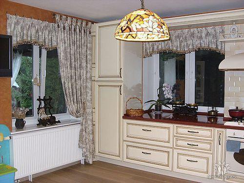 шторы на кухню в стиле прованс фото