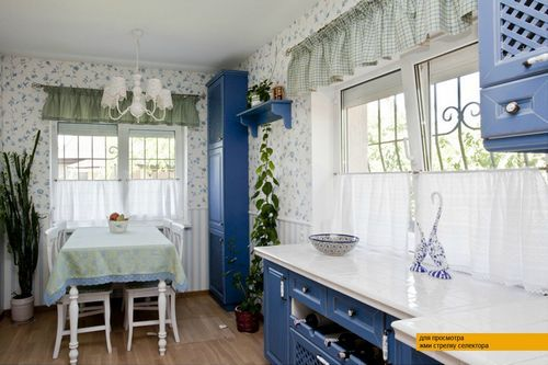 Шторы в стиле прованс на кухню