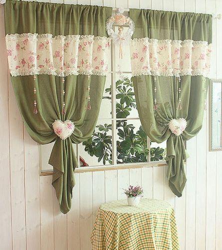 шторы в кухне в стиле прованс фото интерьер