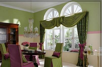 шторы на нестандартные окна в загородном доме
