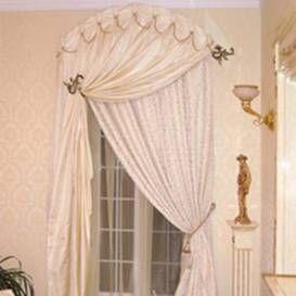 Варианты занавесов для арочного окна - рис.3