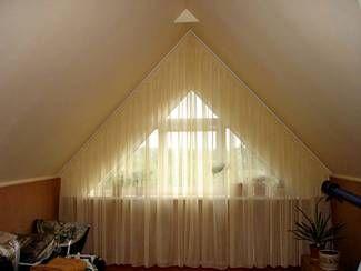 нестандартные шторы мансардного окна